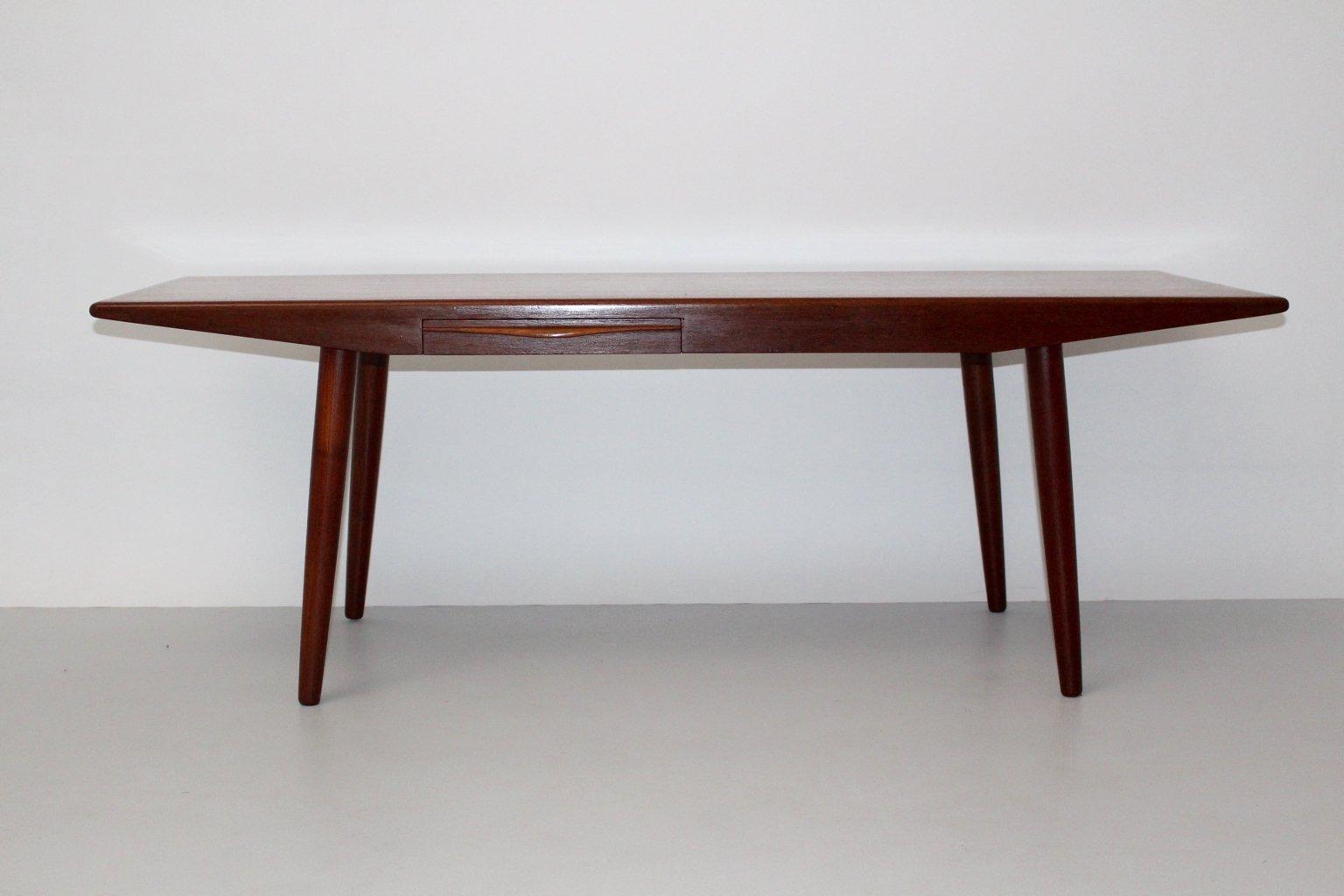 Table basse teck avec tiroir for Table 3 en 1