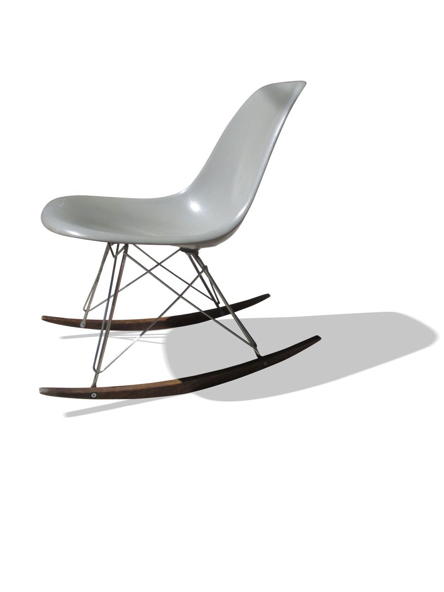 grey rocking chair by charles ray eames for herman miller 1960s for