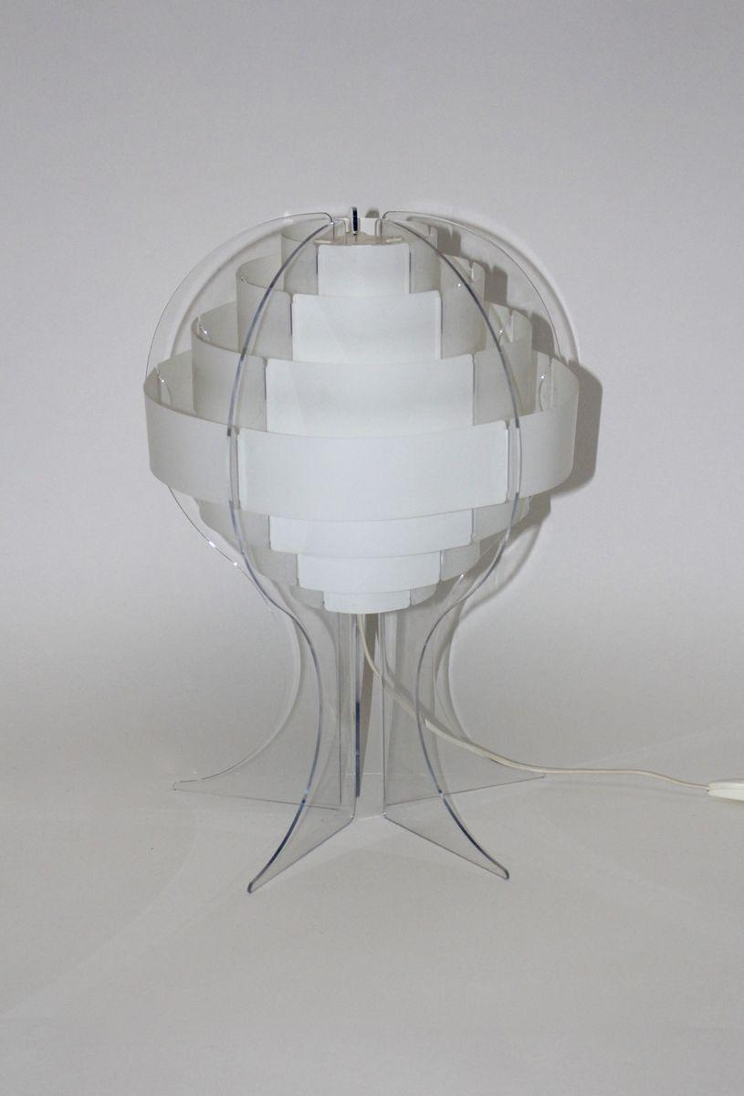 Lampada da tavolo Mid-Century in acrilico di Flemming Brylle & Preben Jacobsen, Danimarca in ...