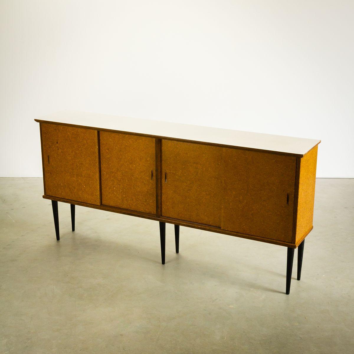 niederl ndisches sideboard mit schiebet ren von nissen. Black Bedroom Furniture Sets. Home Design Ideas
