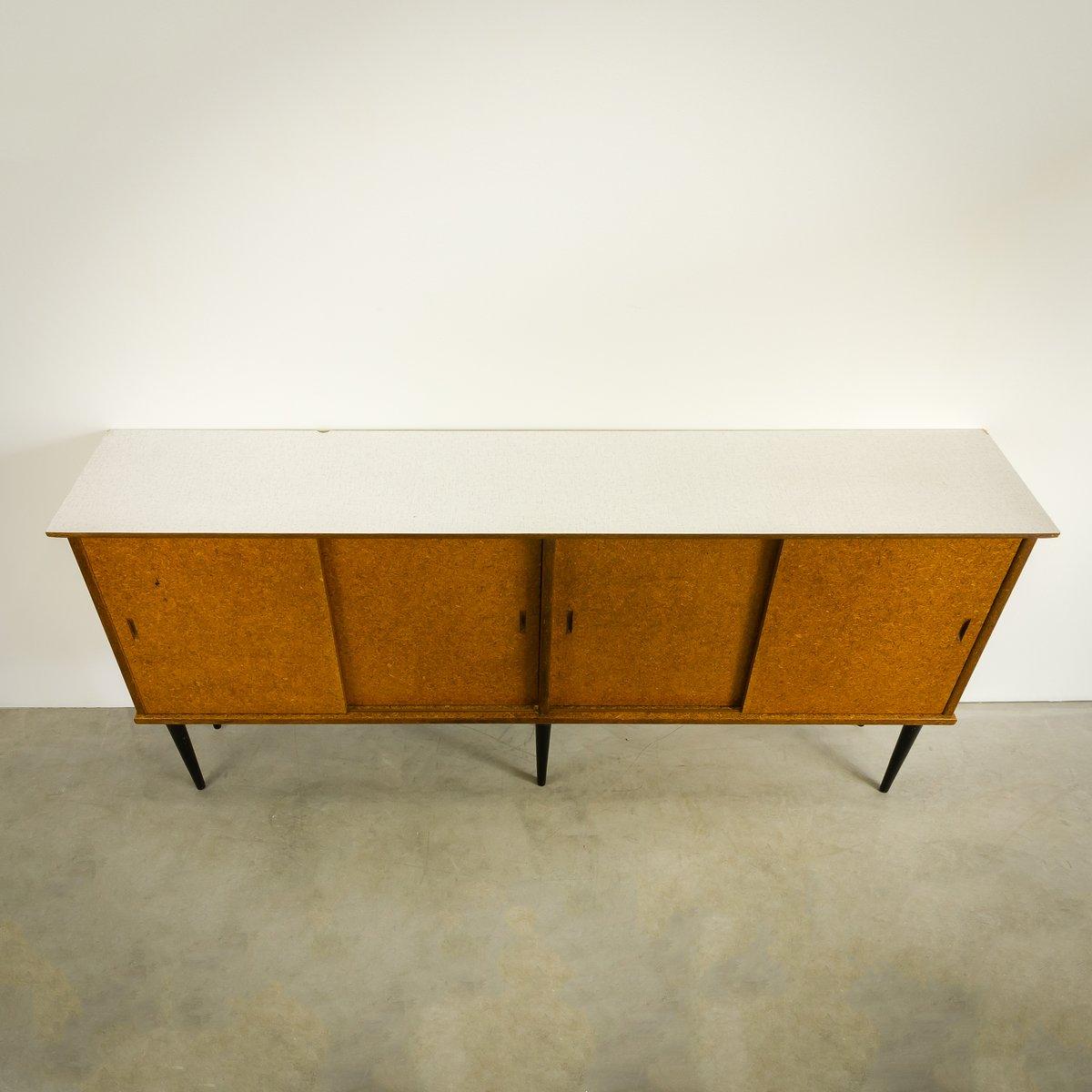 niederl ndisches sideboard mit schiebet ren von nissen naarden 1950er bei pamono kaufen. Black Bedroom Furniture Sets. Home Design Ideas