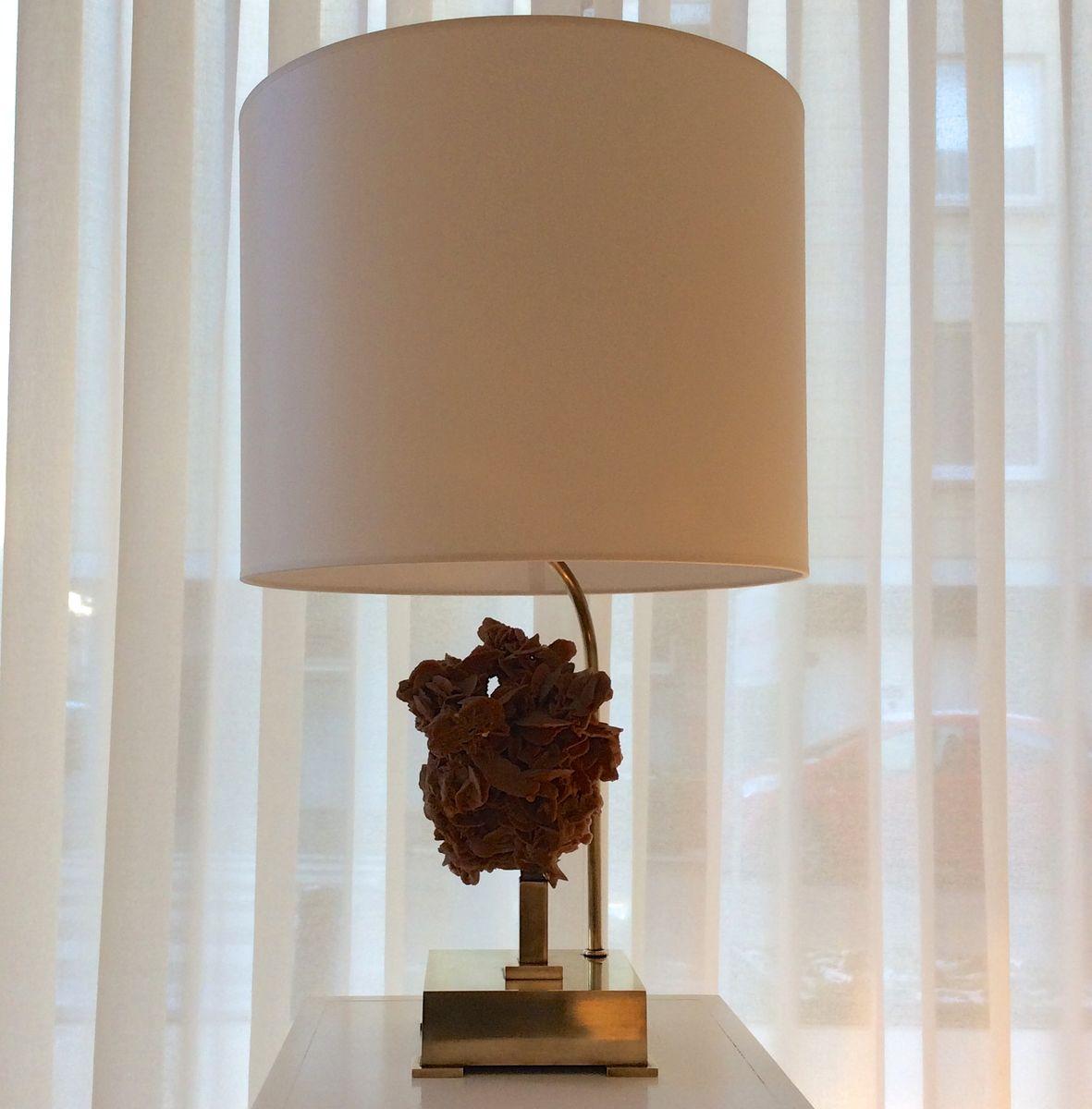 belgische w stenrose tischlampe aus messing 1970er bei pamono kaufen. Black Bedroom Furniture Sets. Home Design Ideas