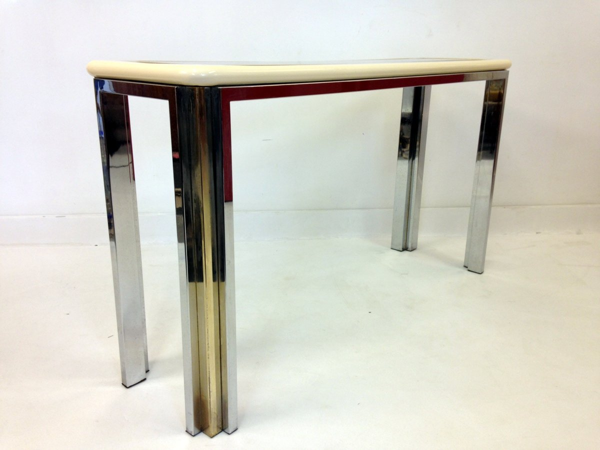 Vintage italian lacquered console table for sale at pamono vintage italian lacquered console table geotapseo Choice Image