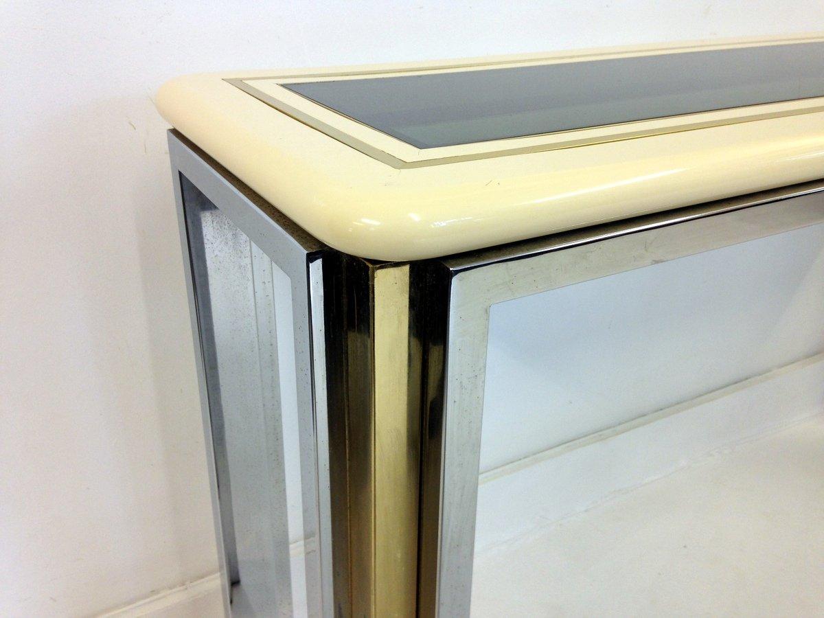 table console vintage laqu e italie en vente sur pamono. Black Bedroom Furniture Sets. Home Design Ideas
