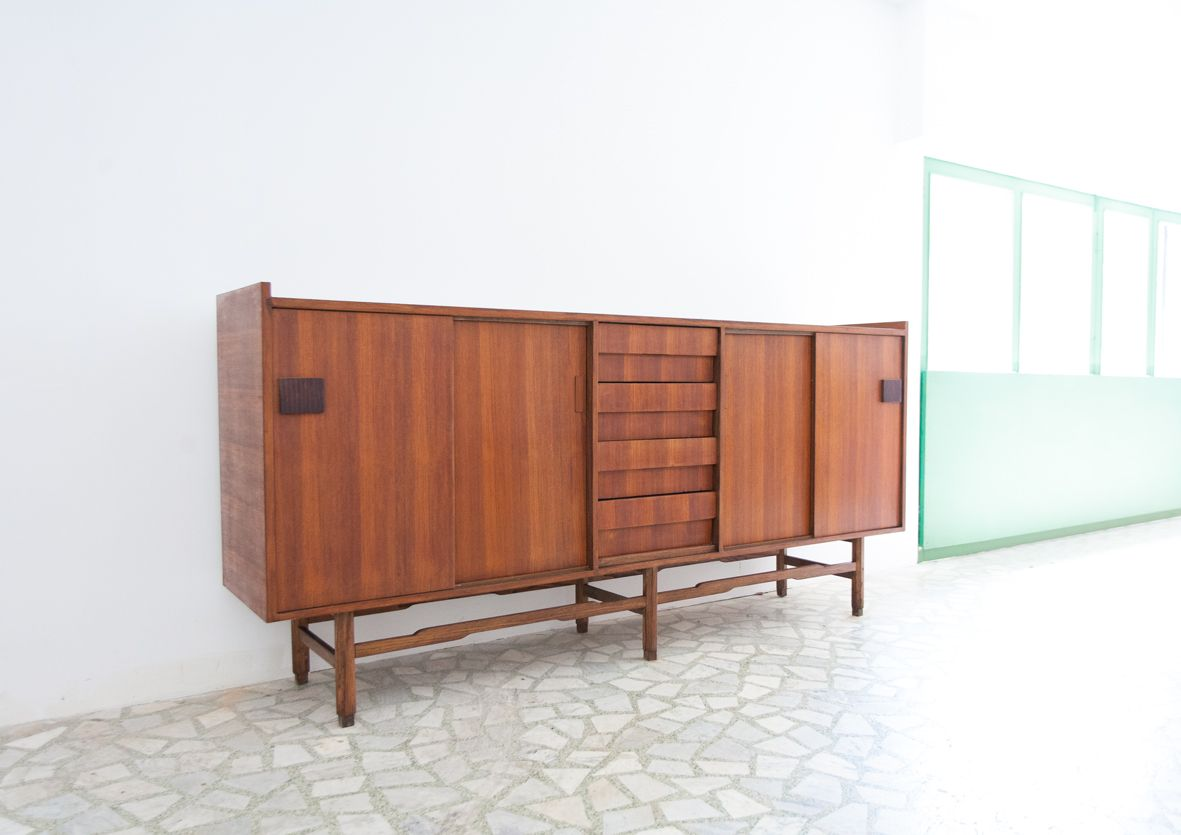 Mid century swedish teak sideboard 1950s for sale at pamono for 1950 s credenza