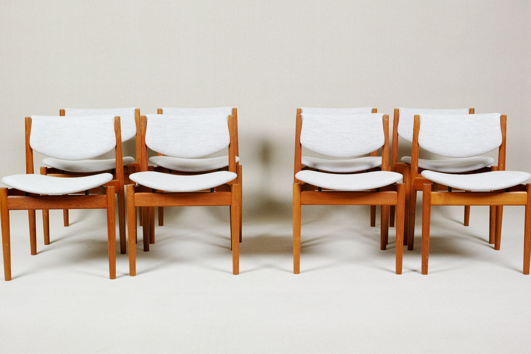 Dining Chairs Model 197 By Finn Juhl For France U0026 Søn, 1960s, Set Of 8 For  Sale At Pamono