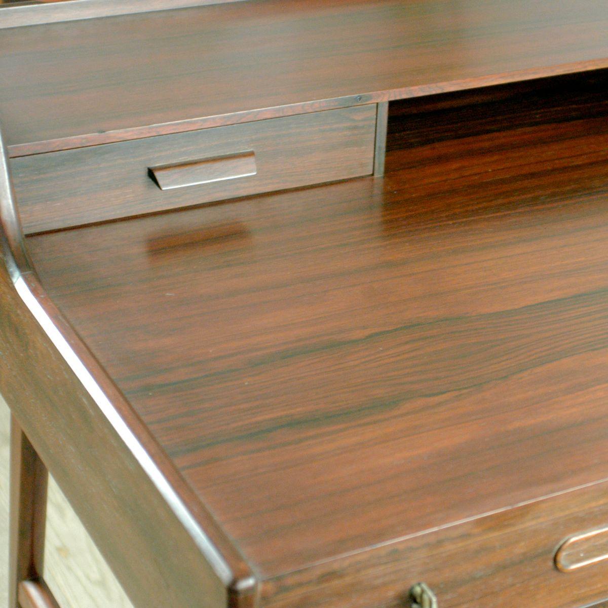 nr 56 schreibtisch aus palisander von arne wahl iversen. Black Bedroom Furniture Sets. Home Design Ideas