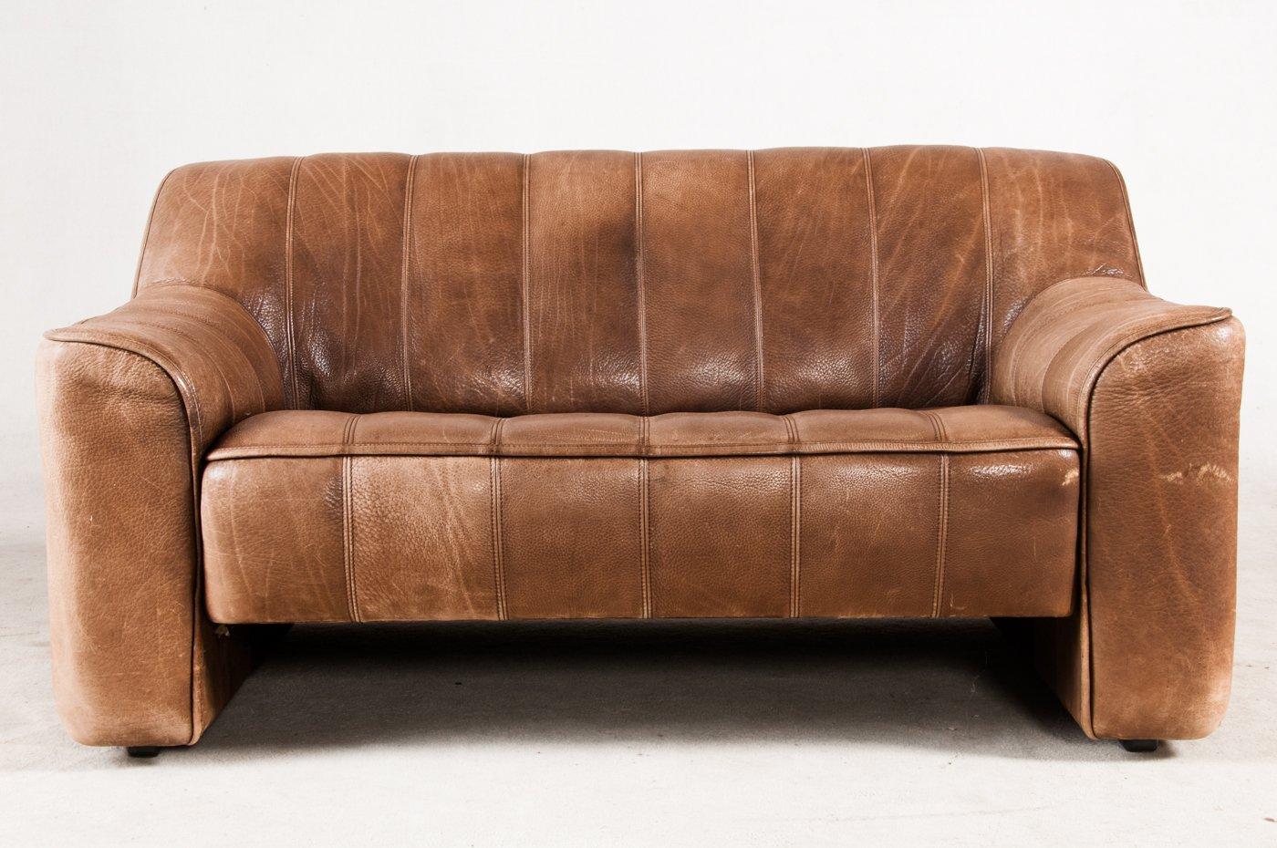 schweizer vintage ledersofa von de sede bei pamono kaufen. Black Bedroom Furniture Sets. Home Design Ideas