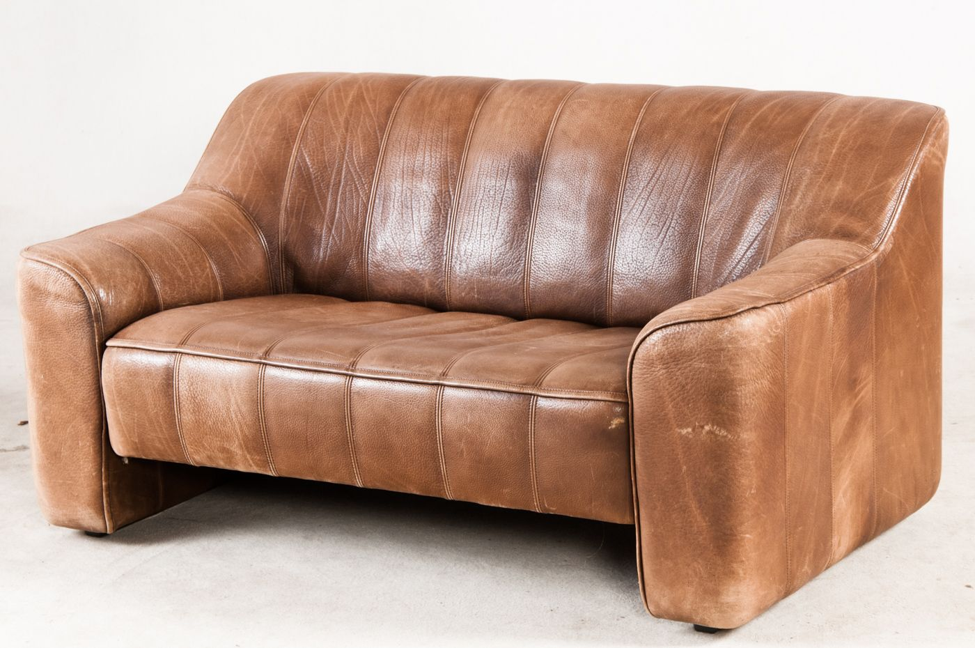 Vintage Swiss Leather Sofa From De Sede