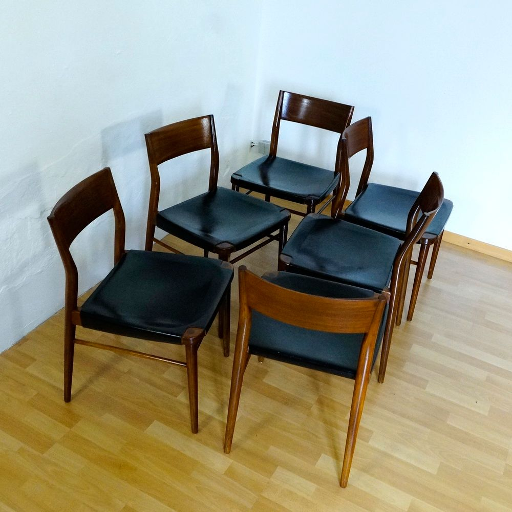 dining room chairs by g leowald for wilkhahn 1950s set