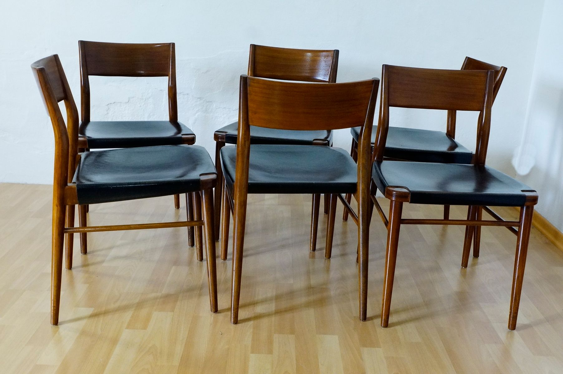 Dining Room Chairs by G. Leowald for Wilkhahn, 1950s, Set of 6 6