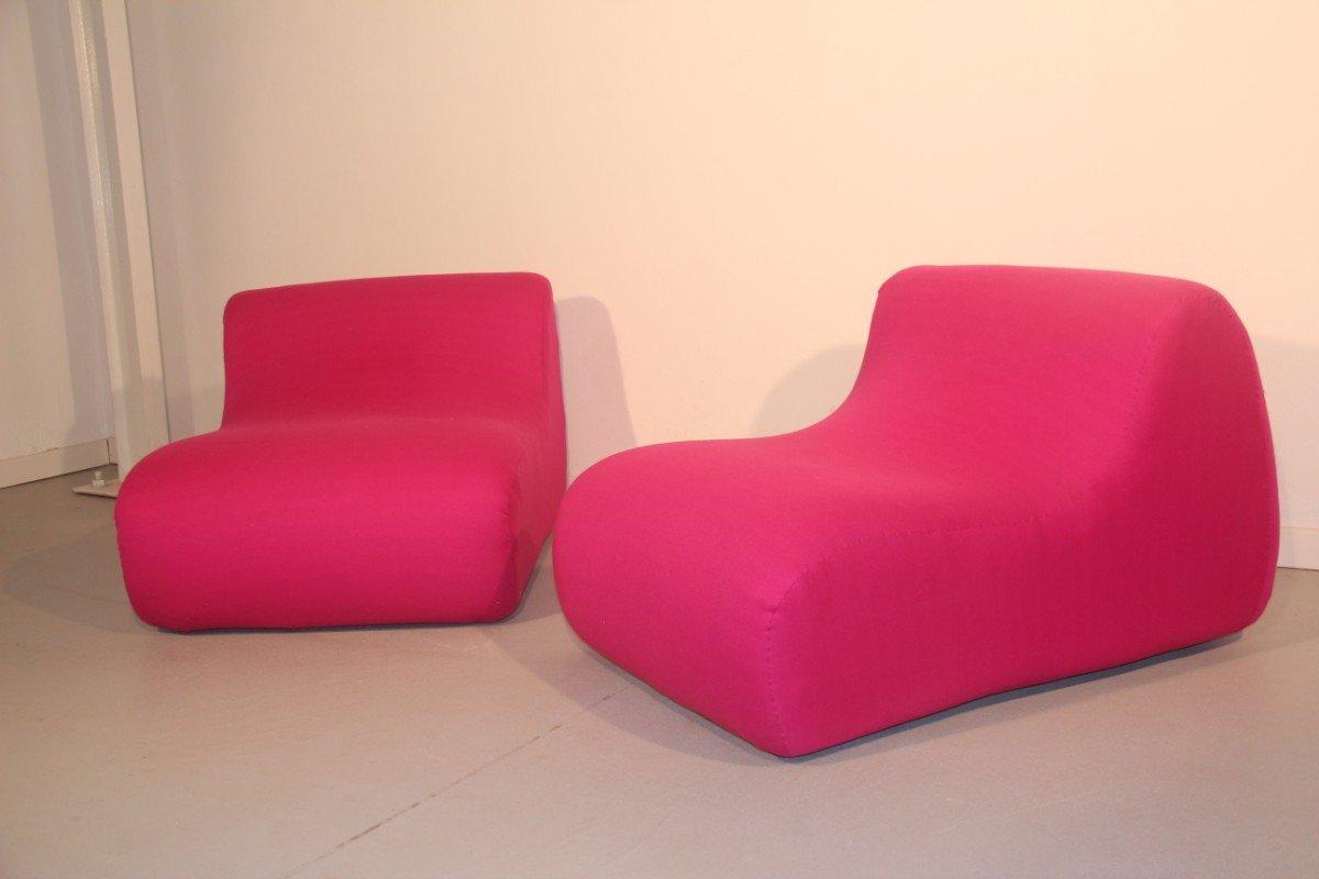 Italienische lounge sessel 1960er 2er set bei pamono kaufen for Italienische sessel design