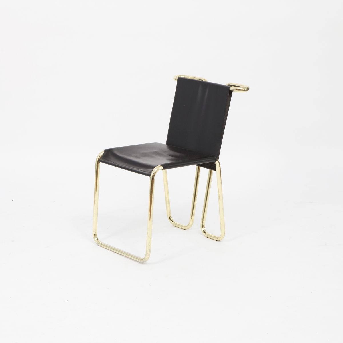 Vintage black and golden dining chairs set of 2 for sale for Black dining chairs for sale