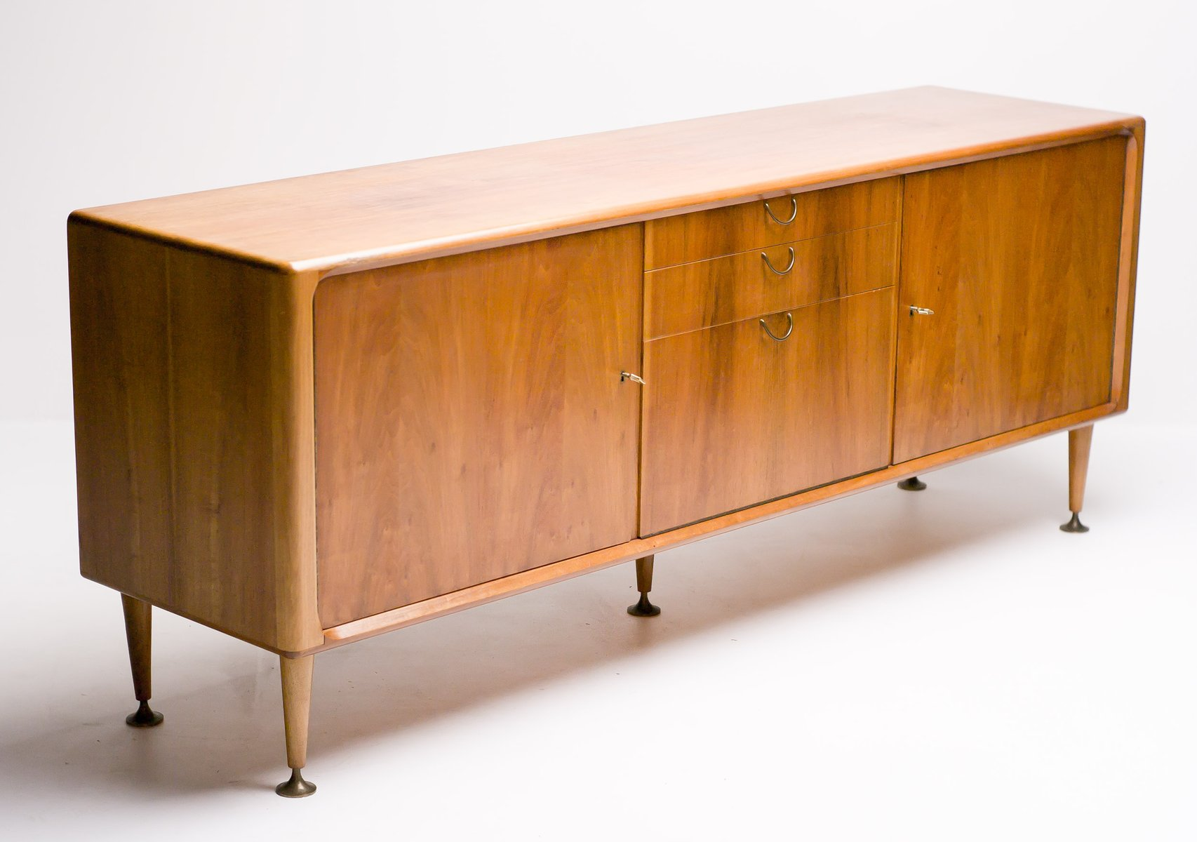 MidCentury Dutch Modern Walnut Sideboard by A A Patijn for