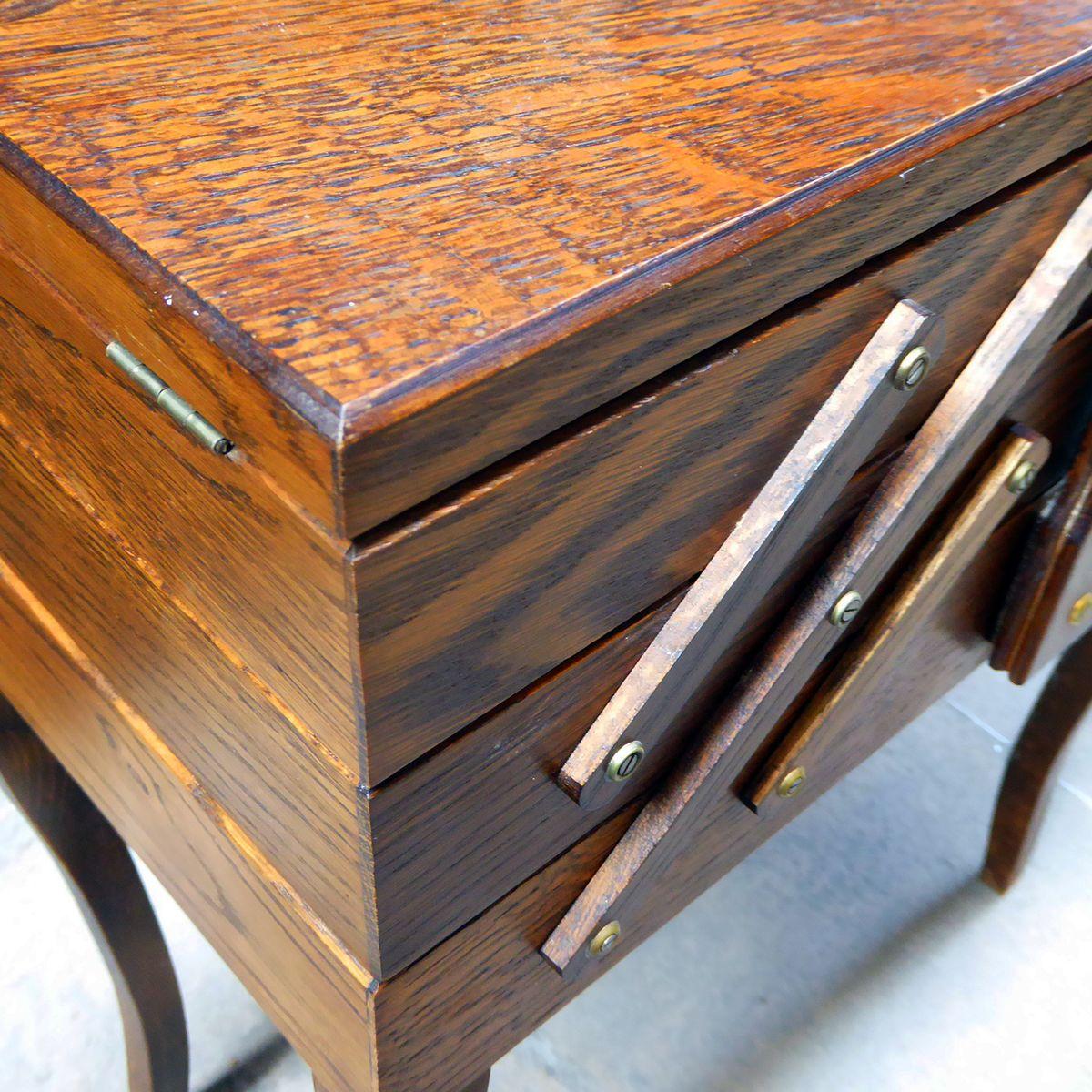 franz sische mid century akkordeon aufbewahrung aus holz 1950er bei pamono kaufen. Black Bedroom Furniture Sets. Home Design Ideas