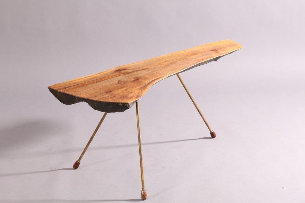 modernistischer baumstamm tisch von carl aub ck 1950 bei. Black Bedroom Furniture Sets. Home Design Ideas