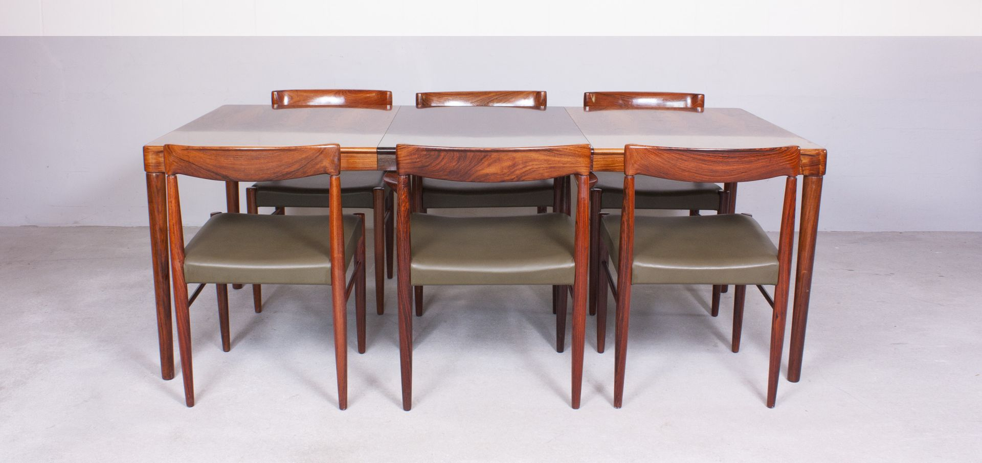 danish table and chairs dining set by h w klein for bramin 1960s