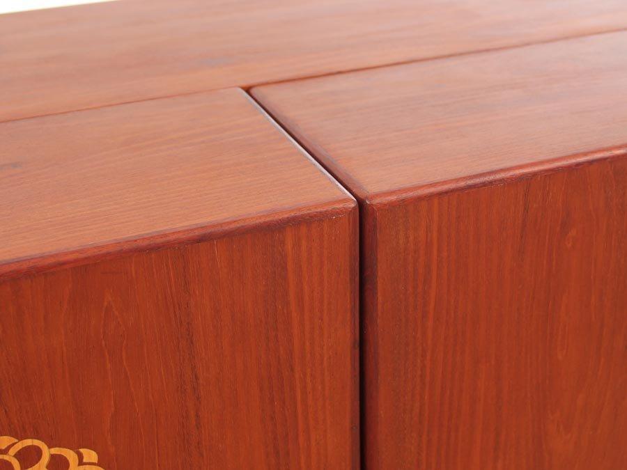 d nischer moderner mid century teak barschrank 1950er bei pamono kaufen. Black Bedroom Furniture Sets. Home Design Ideas