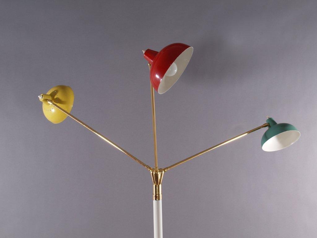 lampadaire trois branches de arredoluce italie 1950 en. Black Bedroom Furniture Sets. Home Design Ideas