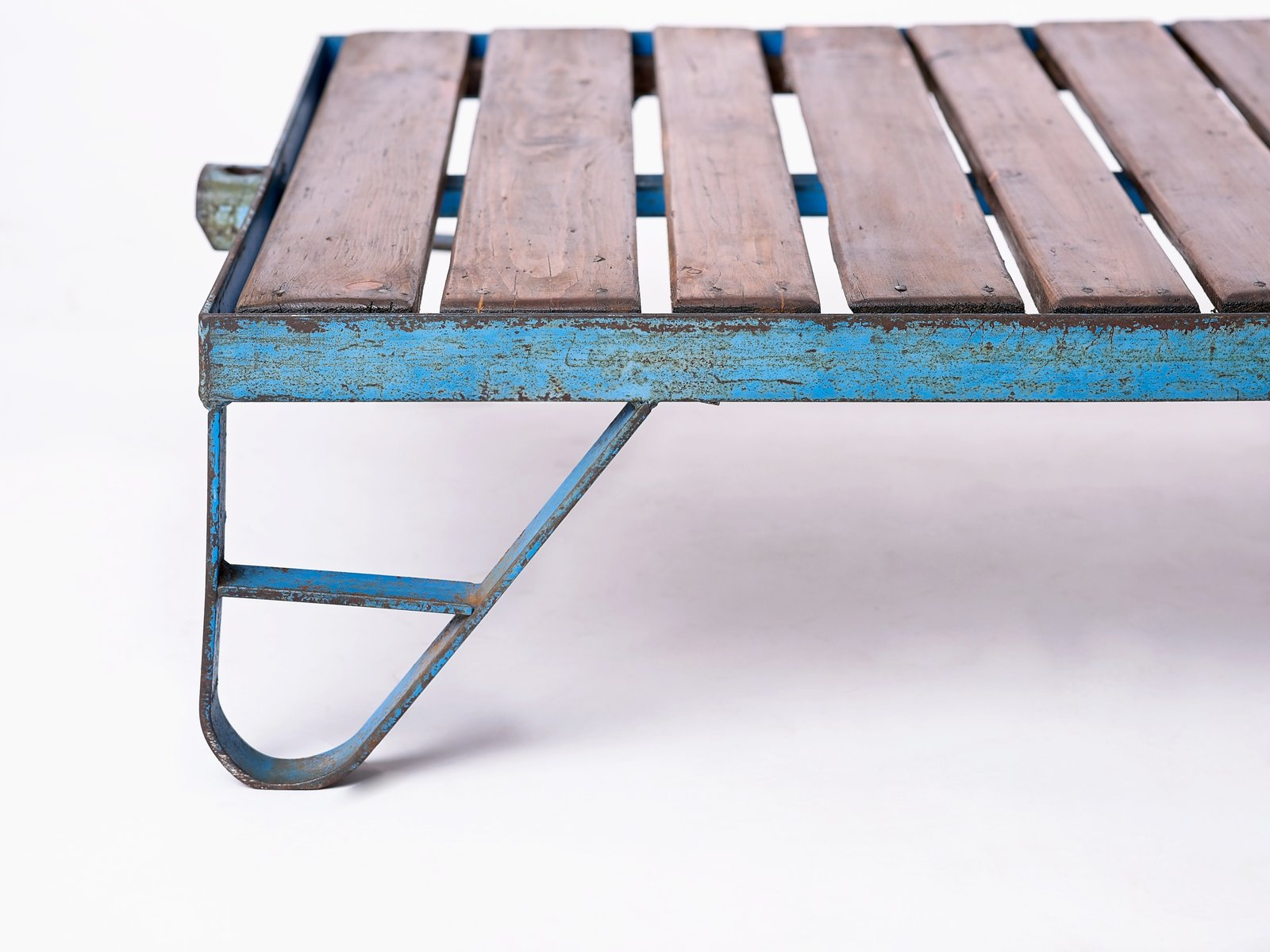 Industrial Czech Blue Coffee Table 1950s For Sale At Pamono