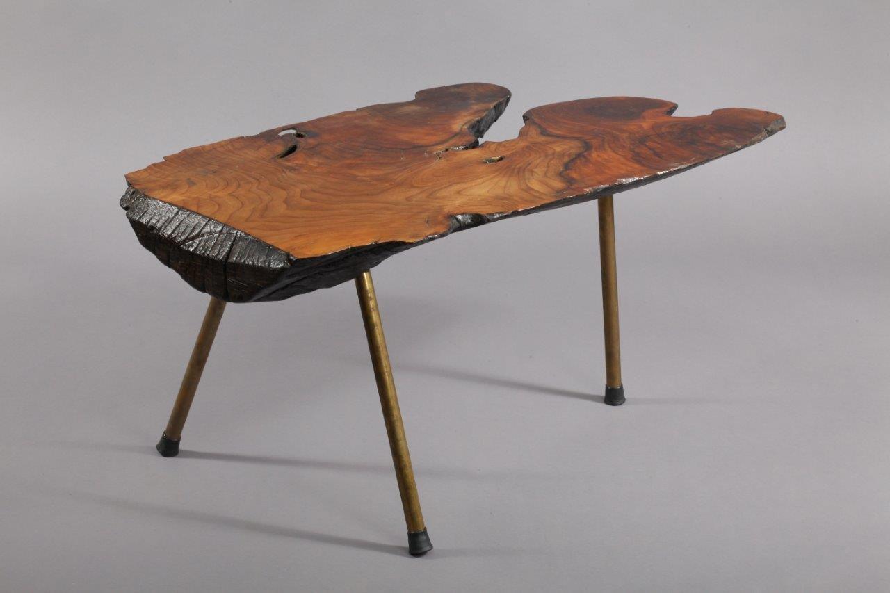 Table tronc d 39 arbre par carl aub ck 1950 en vente sur pamono - Table en tronc d arbre ...