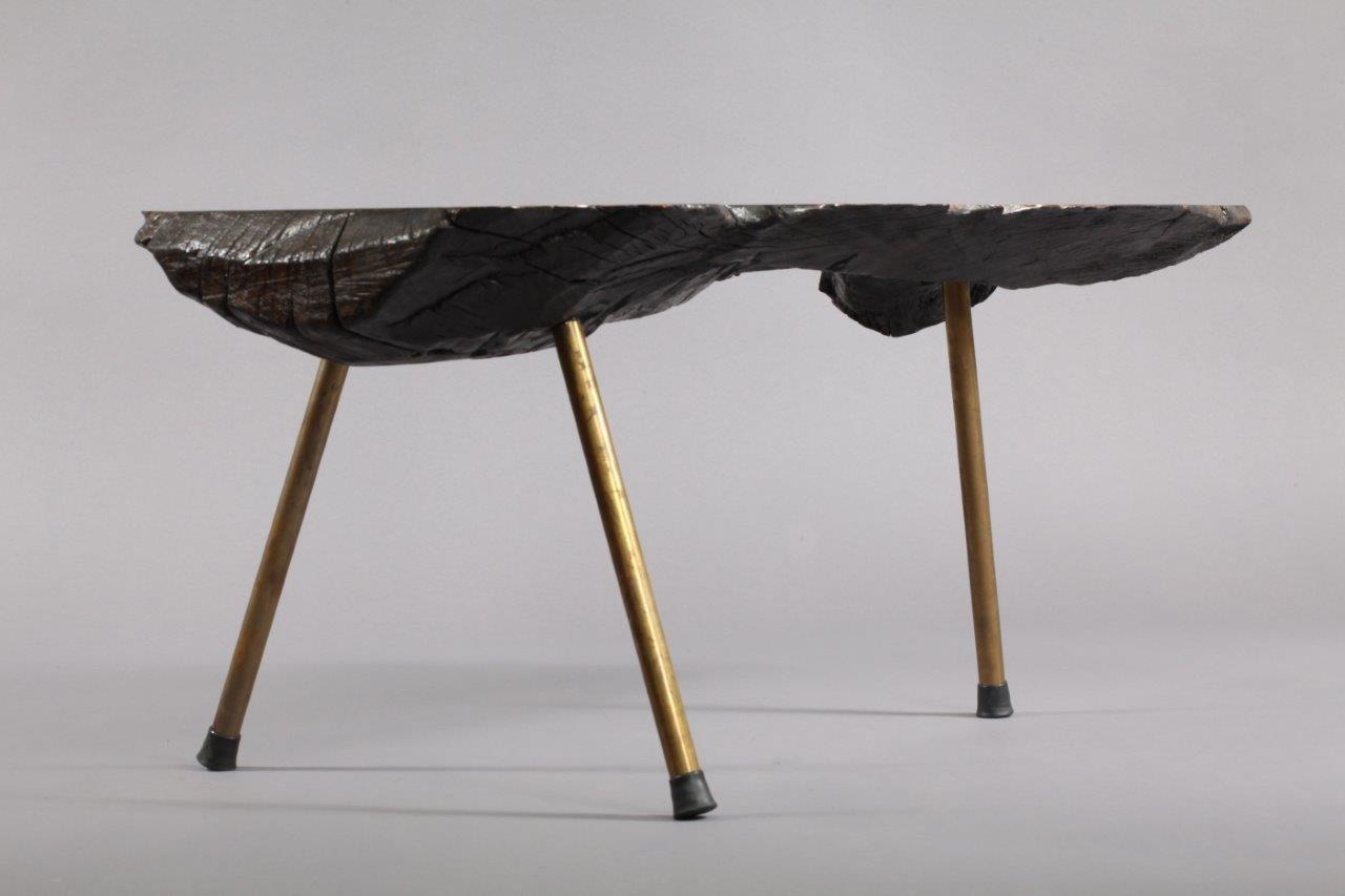 table tronc d 39 arbre par carl aub ck 1950 en vente sur pamono. Black Bedroom Furniture Sets. Home Design Ideas
