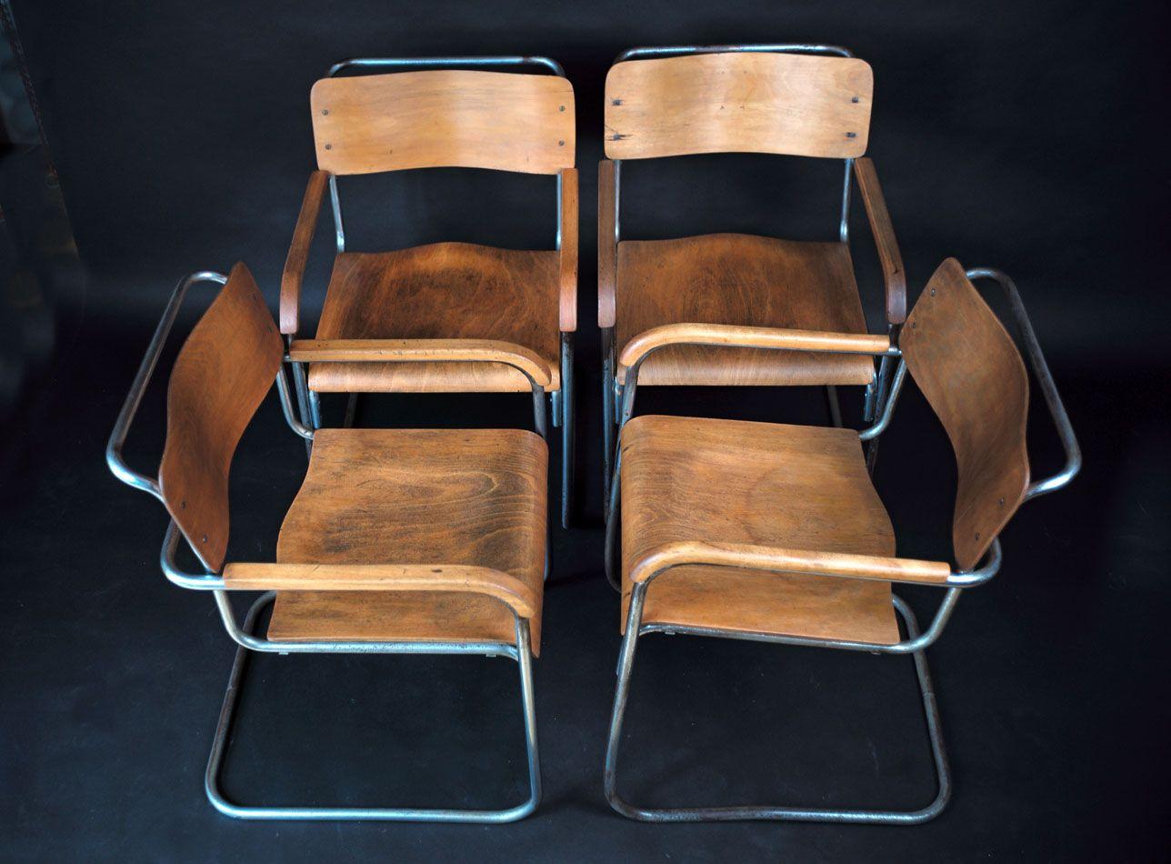 b34 sperrholz stuhl von marcel breuer bei pamono kaufen. Black Bedroom Furniture Sets. Home Design Ideas