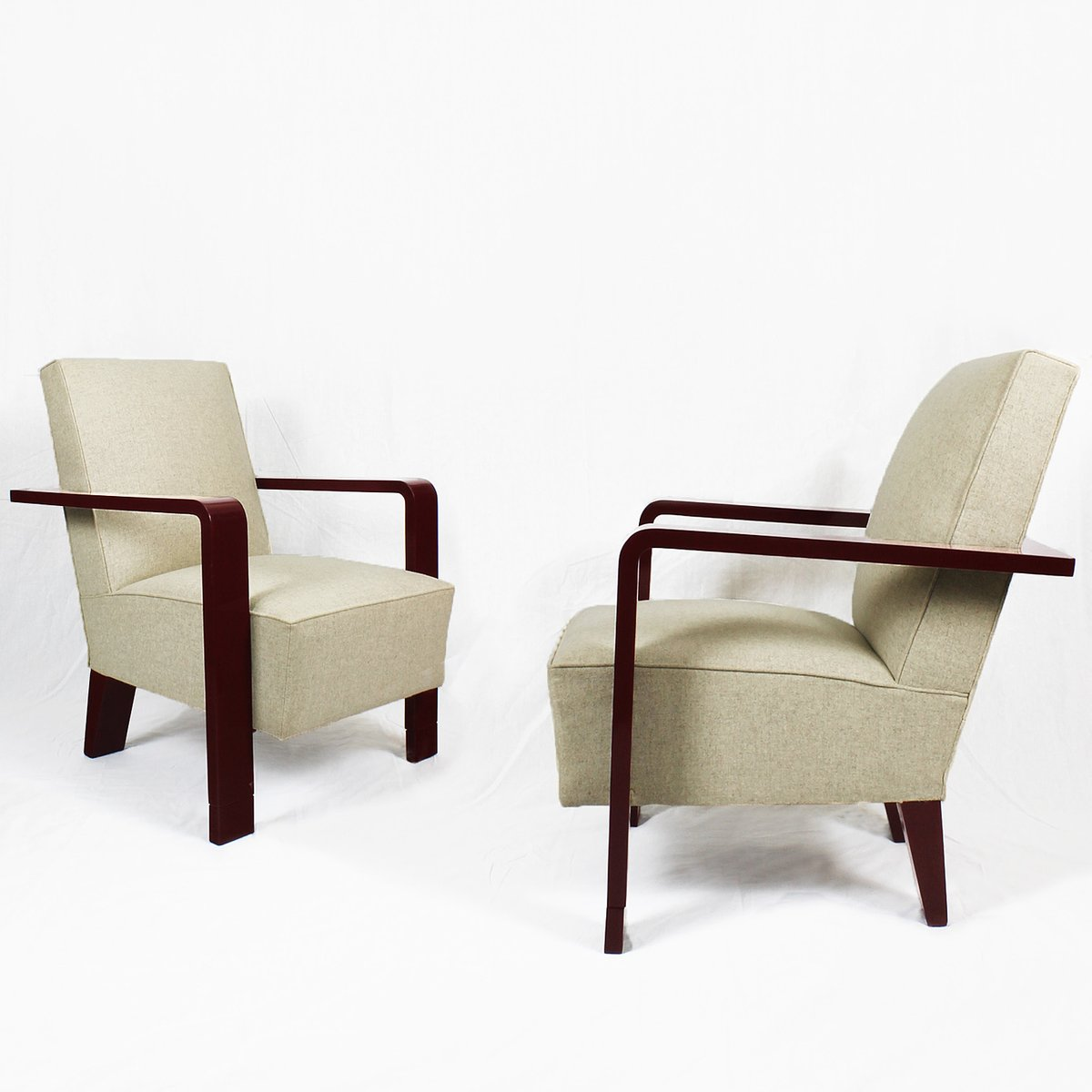 Art Deco Cubist Armchairs 1930s Set Of 2 For Sale At Pamono
