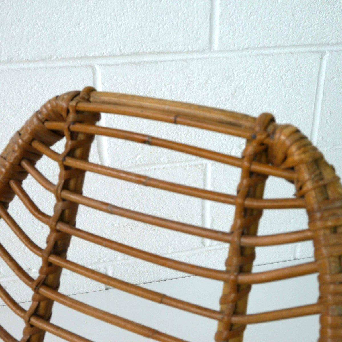 chaise pour enfants en rotin 1960s en vente sur pamono. Black Bedroom Furniture Sets. Home Design Ideas