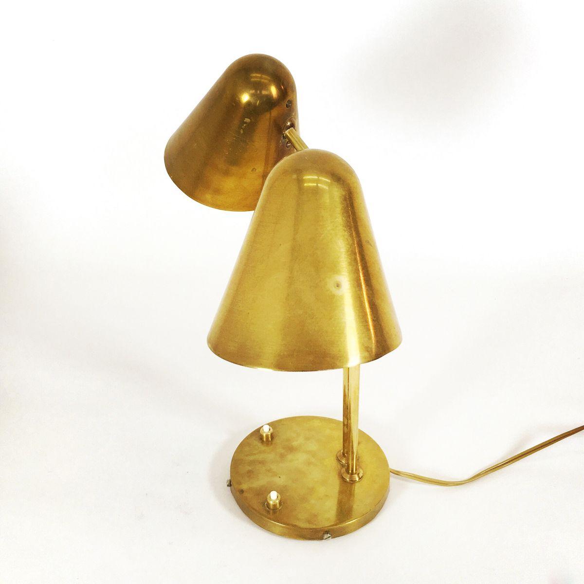 franz sische messing tischlampe 1950er bei pamono kaufen. Black Bedroom Furniture Sets. Home Design Ideas