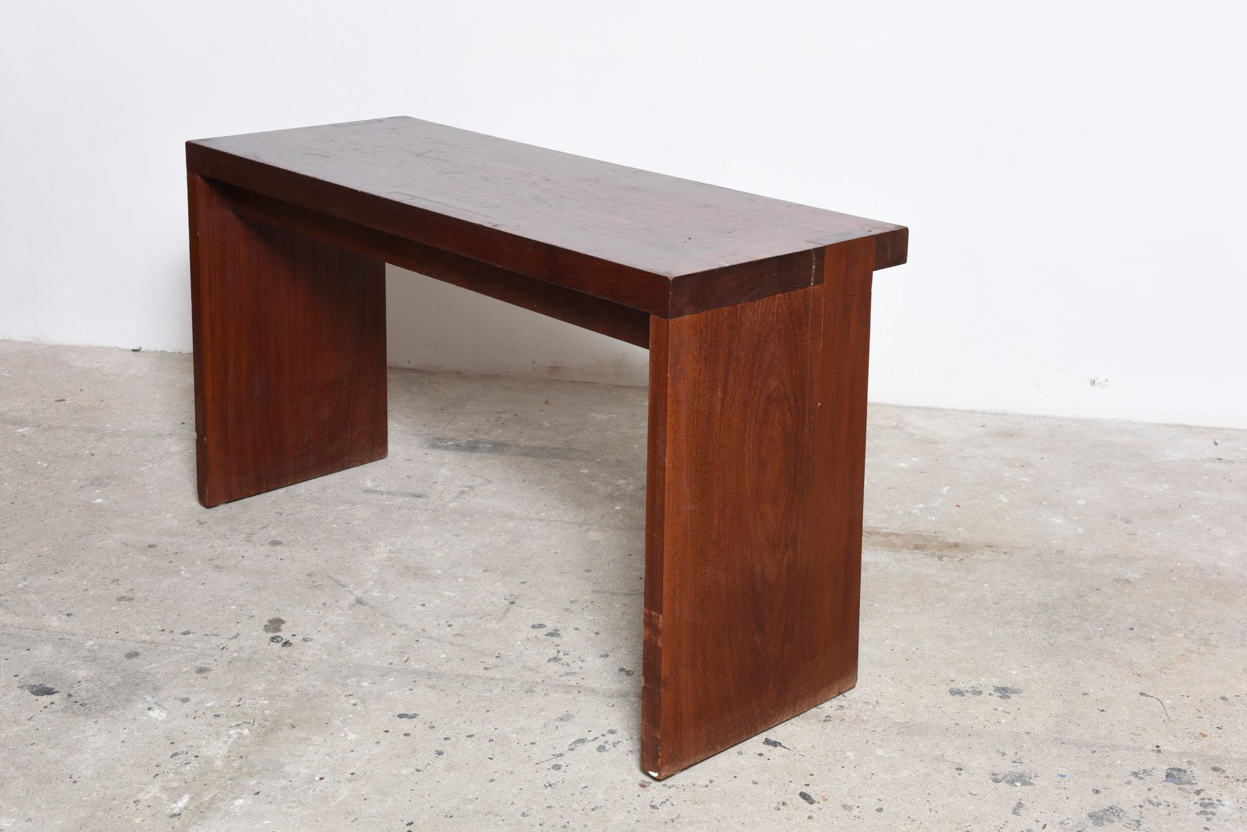 Belgian Mahogany Console Table Or Desk From De Coene, 1959 For Sale At  Pamono