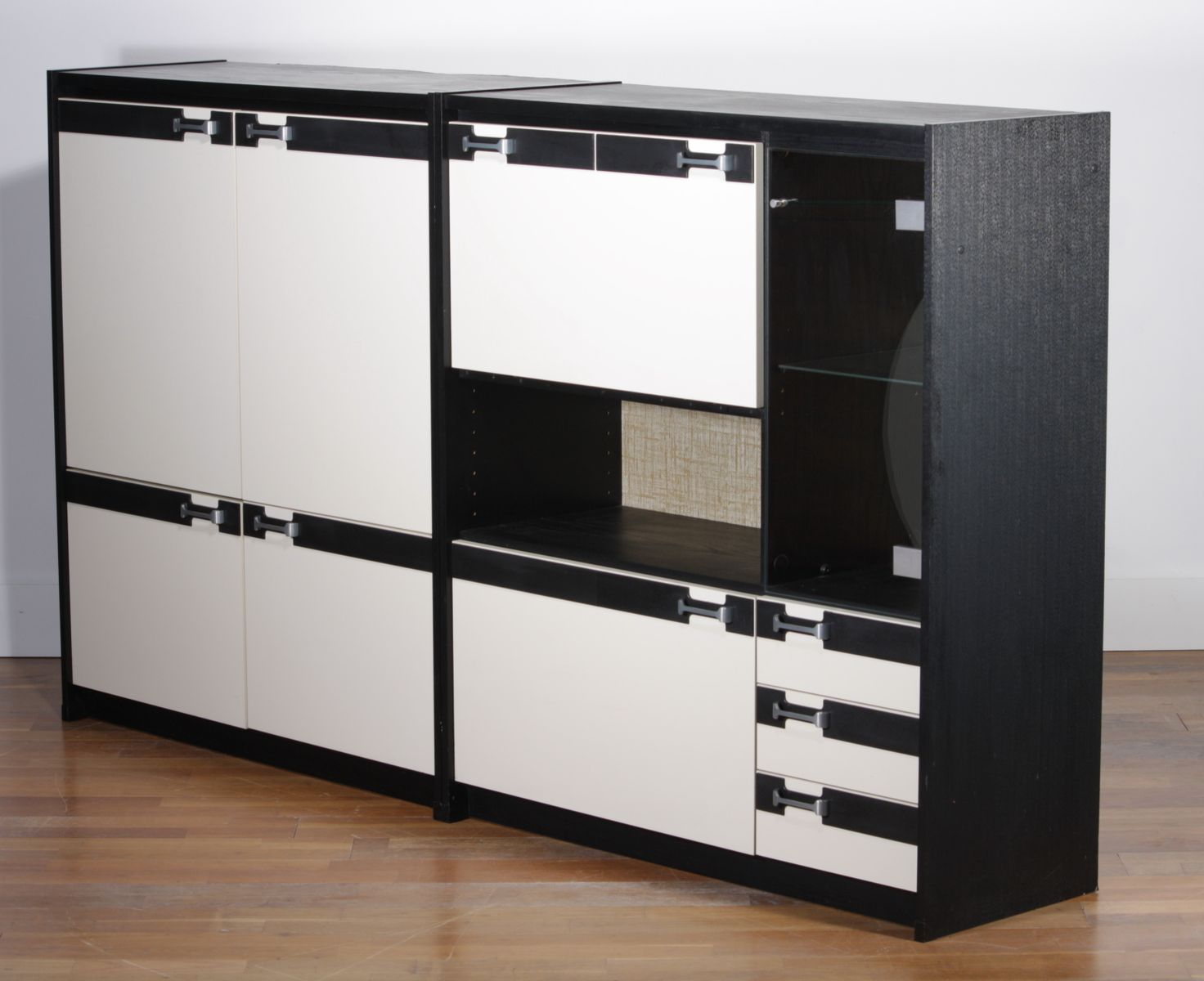 danish wall unit from schieder m bel 1970s for sale at pamono. Black Bedroom Furniture Sets. Home Design Ideas