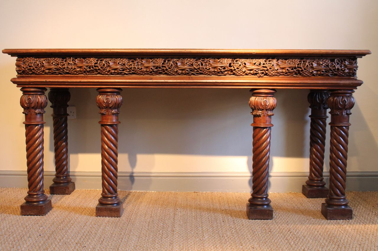 Antique english oak console table for sale at pamono for 1 1 table