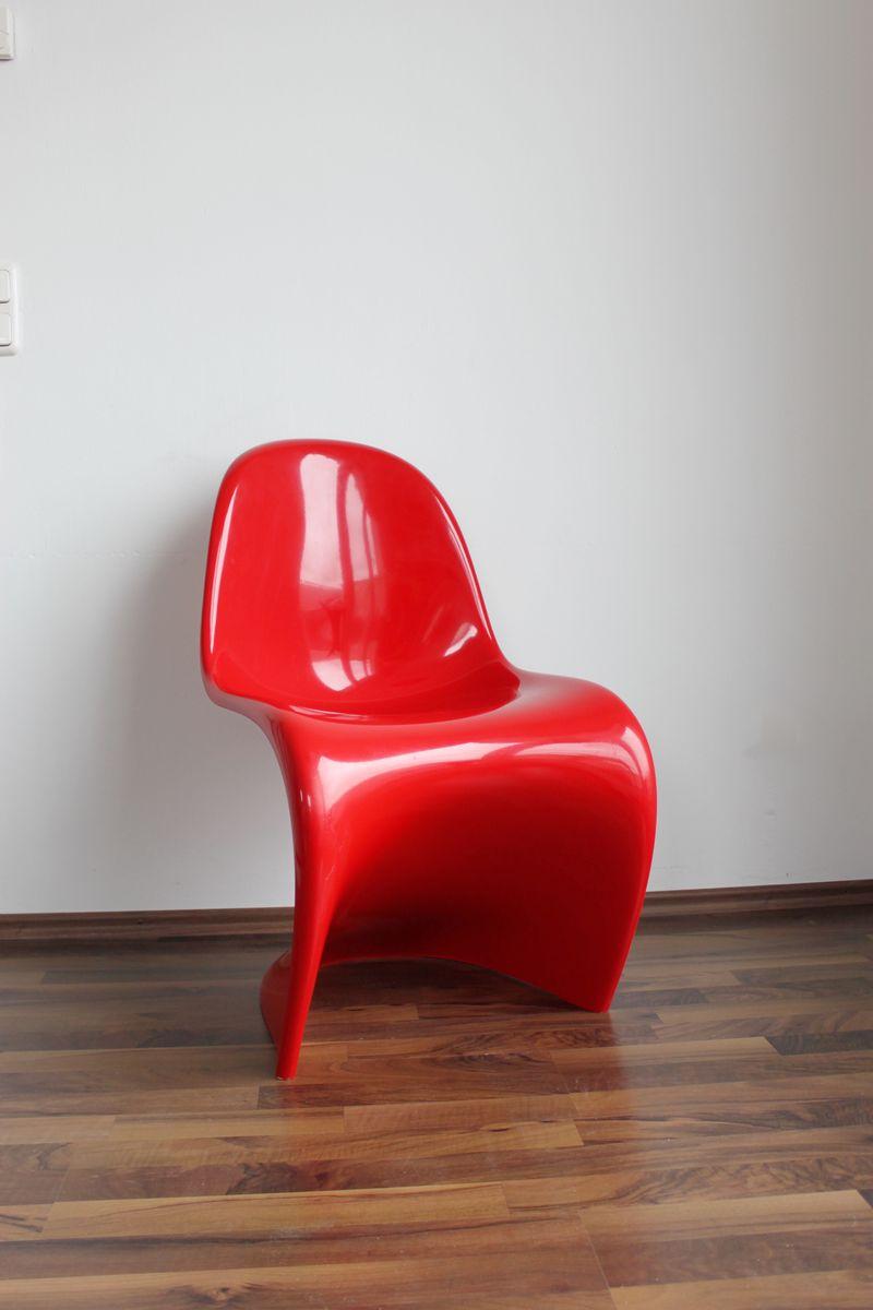 roter vintage panton stuhl von verner panton f r vitra bei pamono kaufen. Black Bedroom Furniture Sets. Home Design Ideas