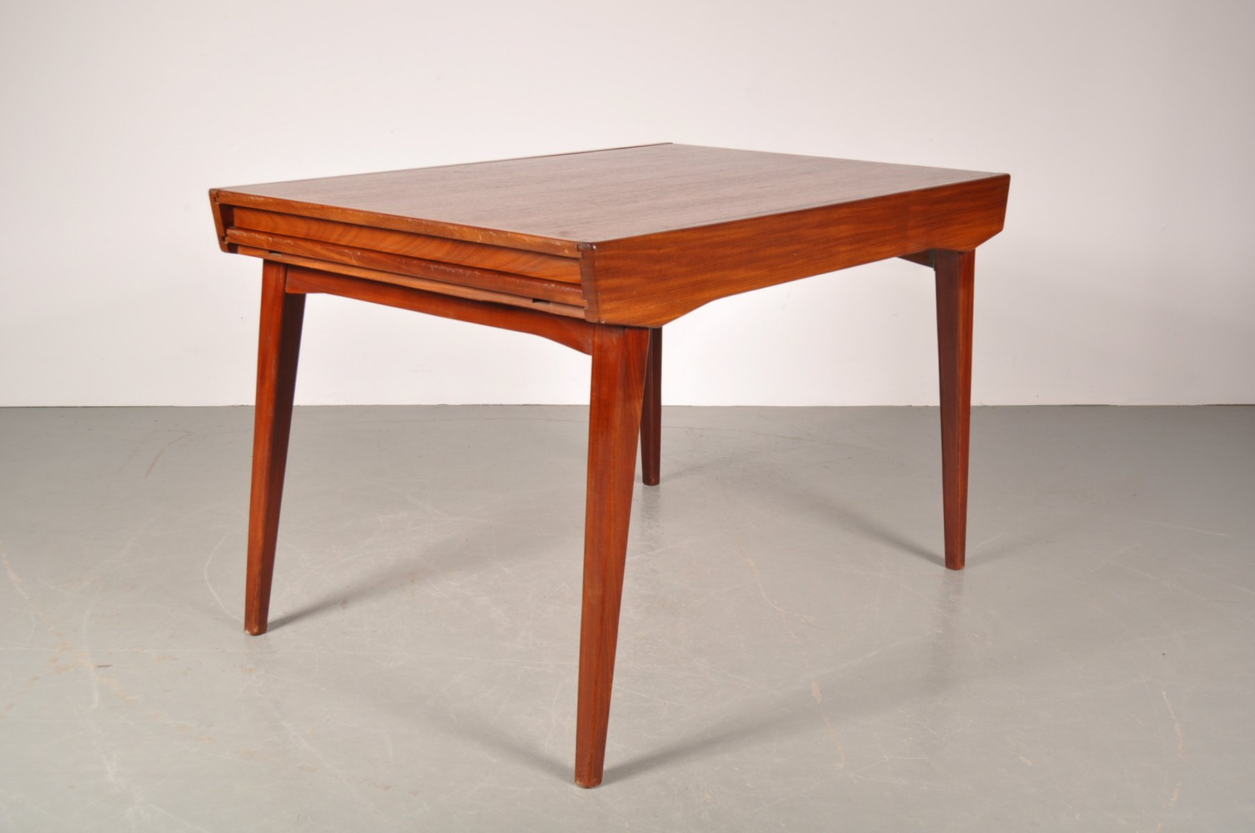 Teak Dining Table With Formica Extension Leaf By Louis Van