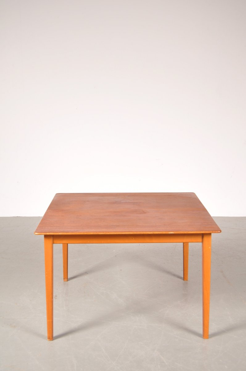 Swedish Teak Birch Coffee Table By Alf Svensson For Tingstr Ms 1950s For Sale At Pamono