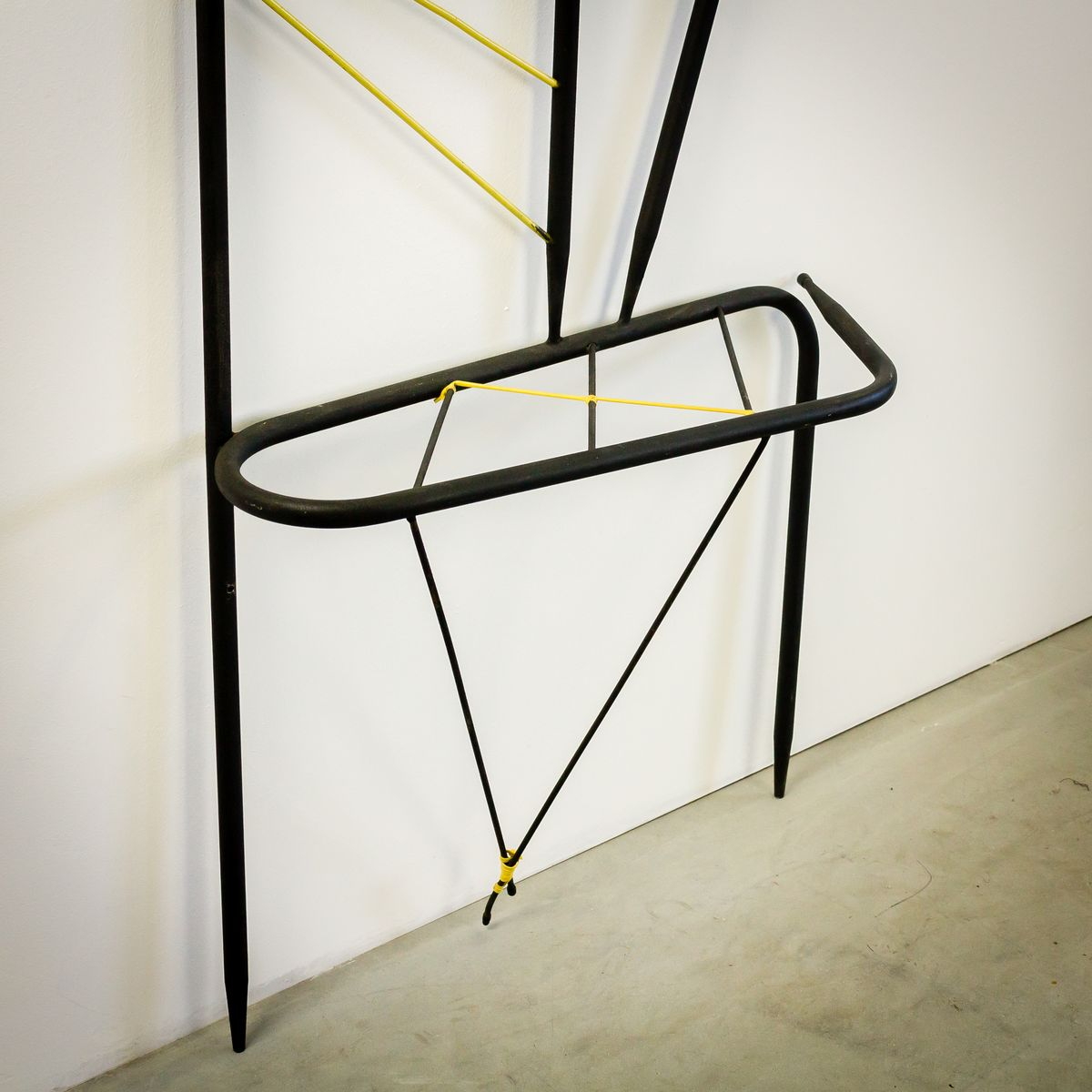 french metal coat rack with mirror s for sale at pamono - french metal coat rack with mirror s
