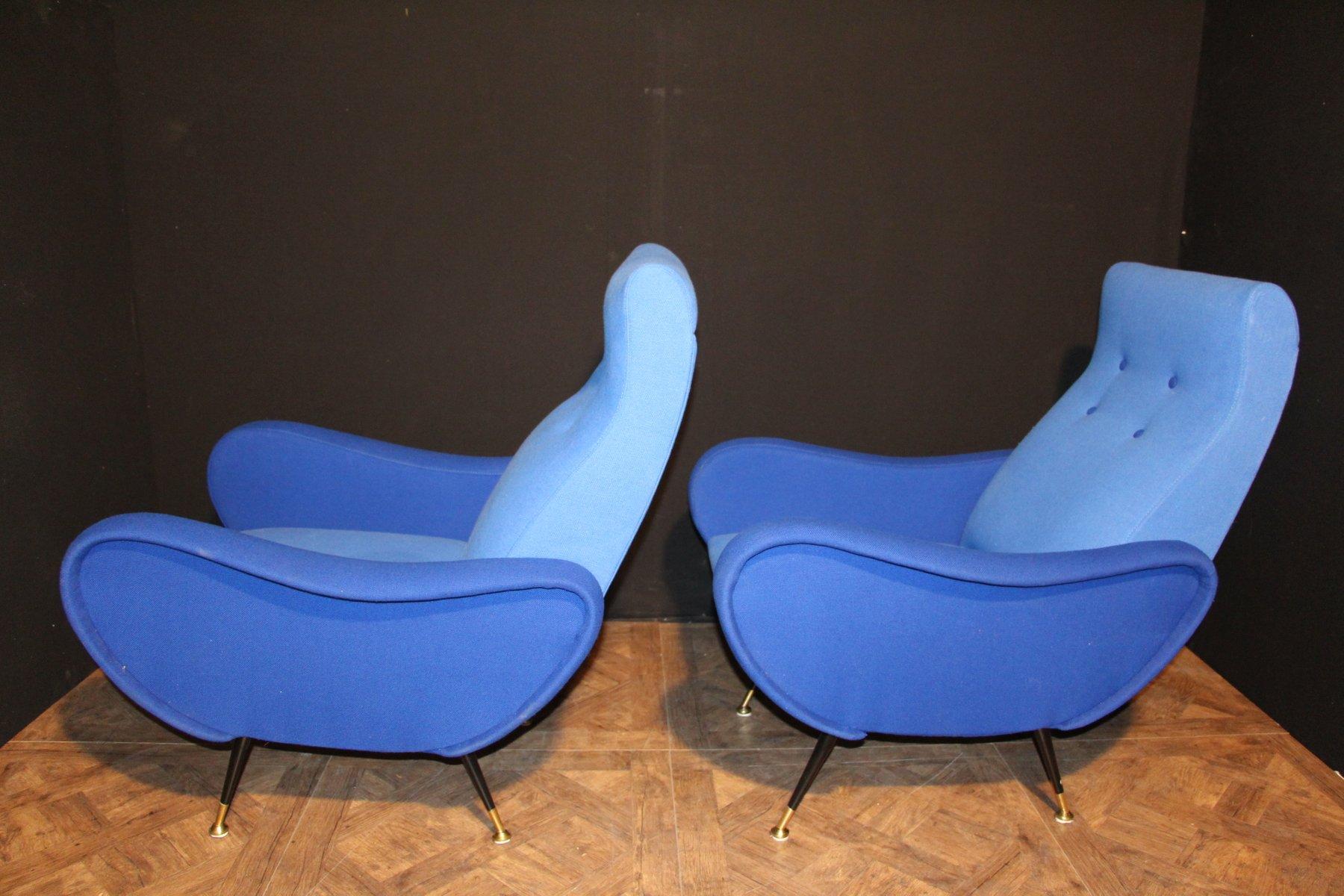 blaue italienische st hle 1950er 2er set bei pamono kaufen. Black Bedroom Furniture Sets. Home Design Ideas