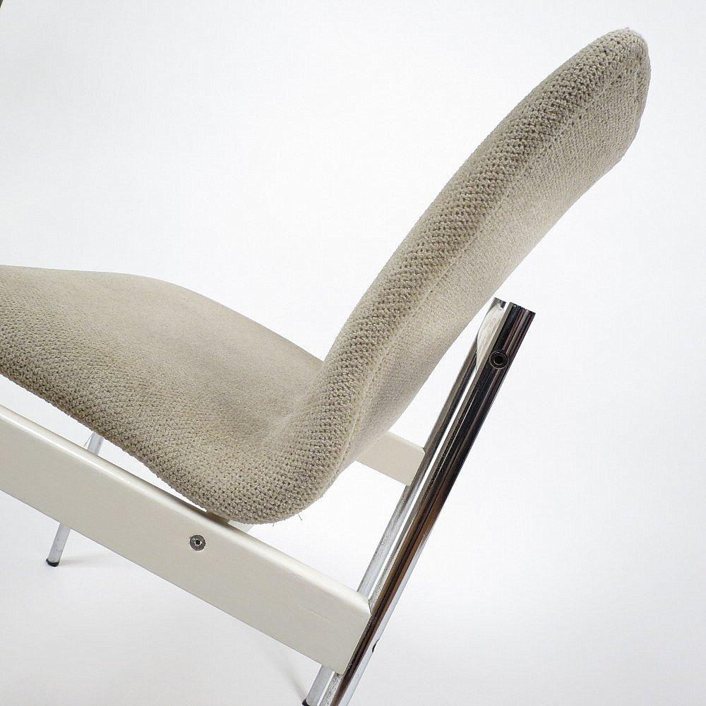 niederl ndische esszimmerst hle aus lackiertem holz und chrom 6er set bei pamono kaufen. Black Bedroom Furniture Sets. Home Design Ideas