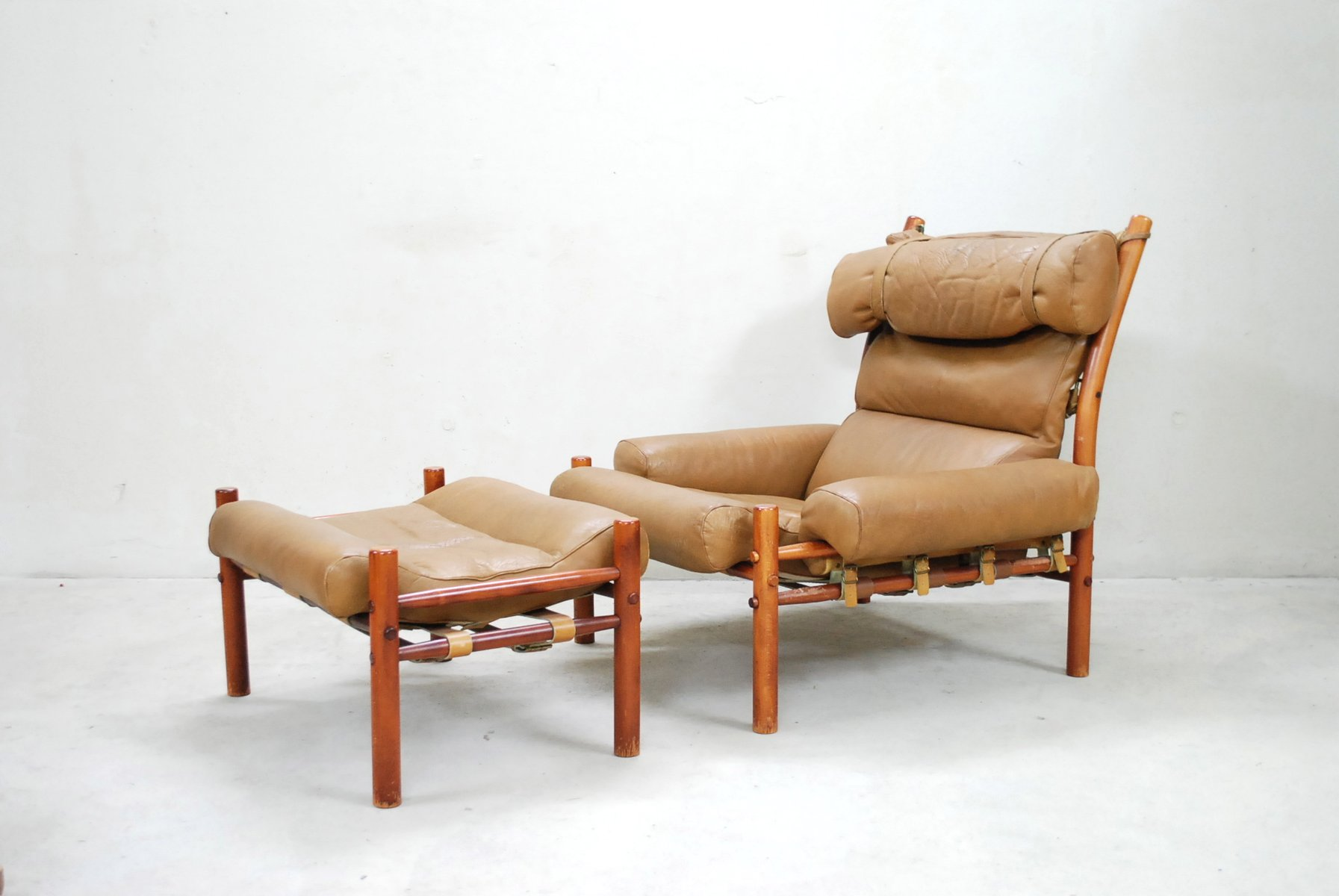 Inca Lounge Chair & Ottoman by Arne Norell for sale at Pamono