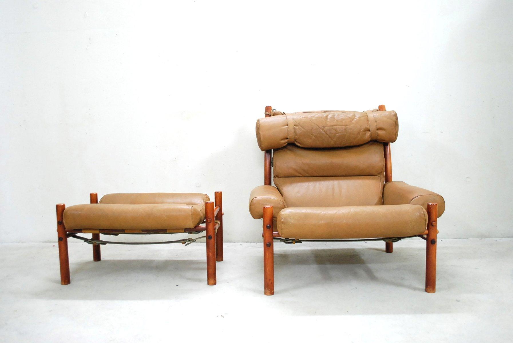 inca lounge chair u0026 ottoman by arne norell