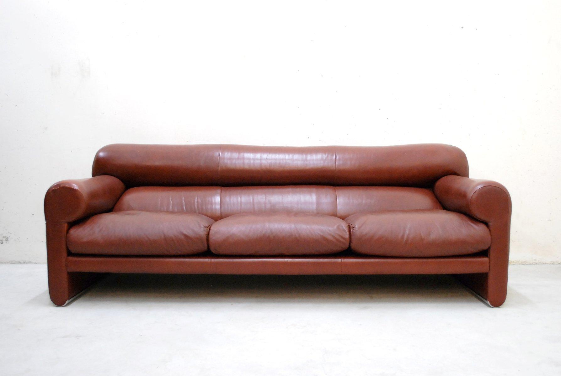 italienisches ledersofa von sergio mazza und giuliana gramigna f r poltrona frau bei pamono kaufen. Black Bedroom Furniture Sets. Home Design Ideas