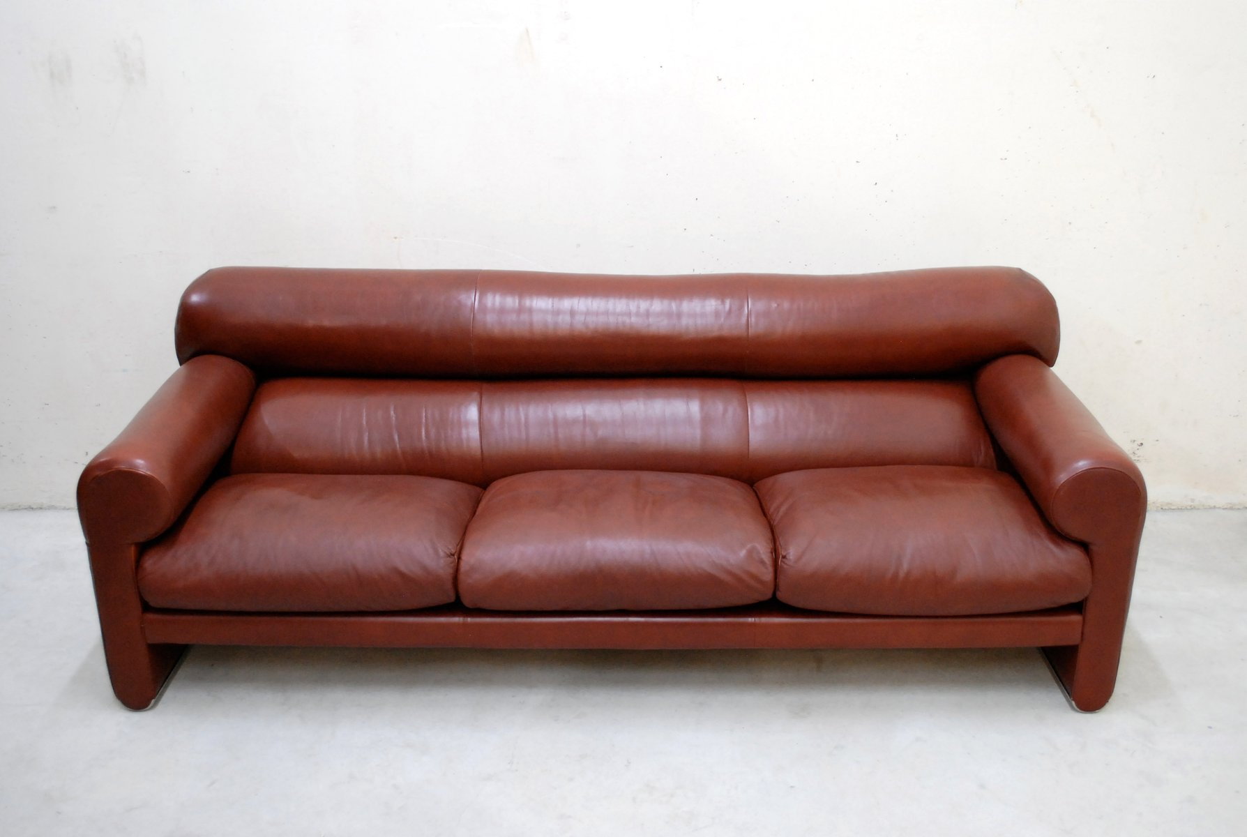 Italian leather sofa by sergio mazza and giuliana gramigna for poltrona frau for sale at pamono Italian leather sofa uk