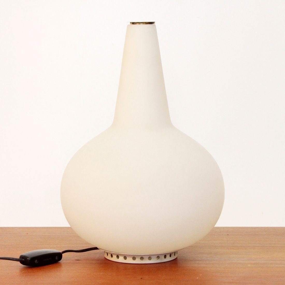 Lampe de bureau en verre opalin et laiton par max ingrand - Lampe de bureau banquier laiton verre vert ...
