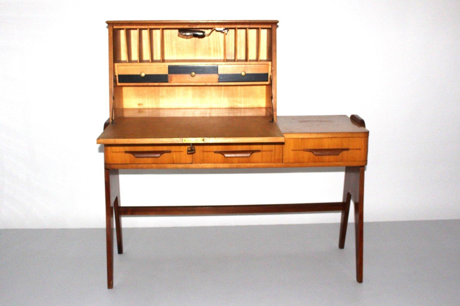 mid century sekret r aus esche nussholz 1950er bei pamono kaufen. Black Bedroom Furniture Sets. Home Design Ideas