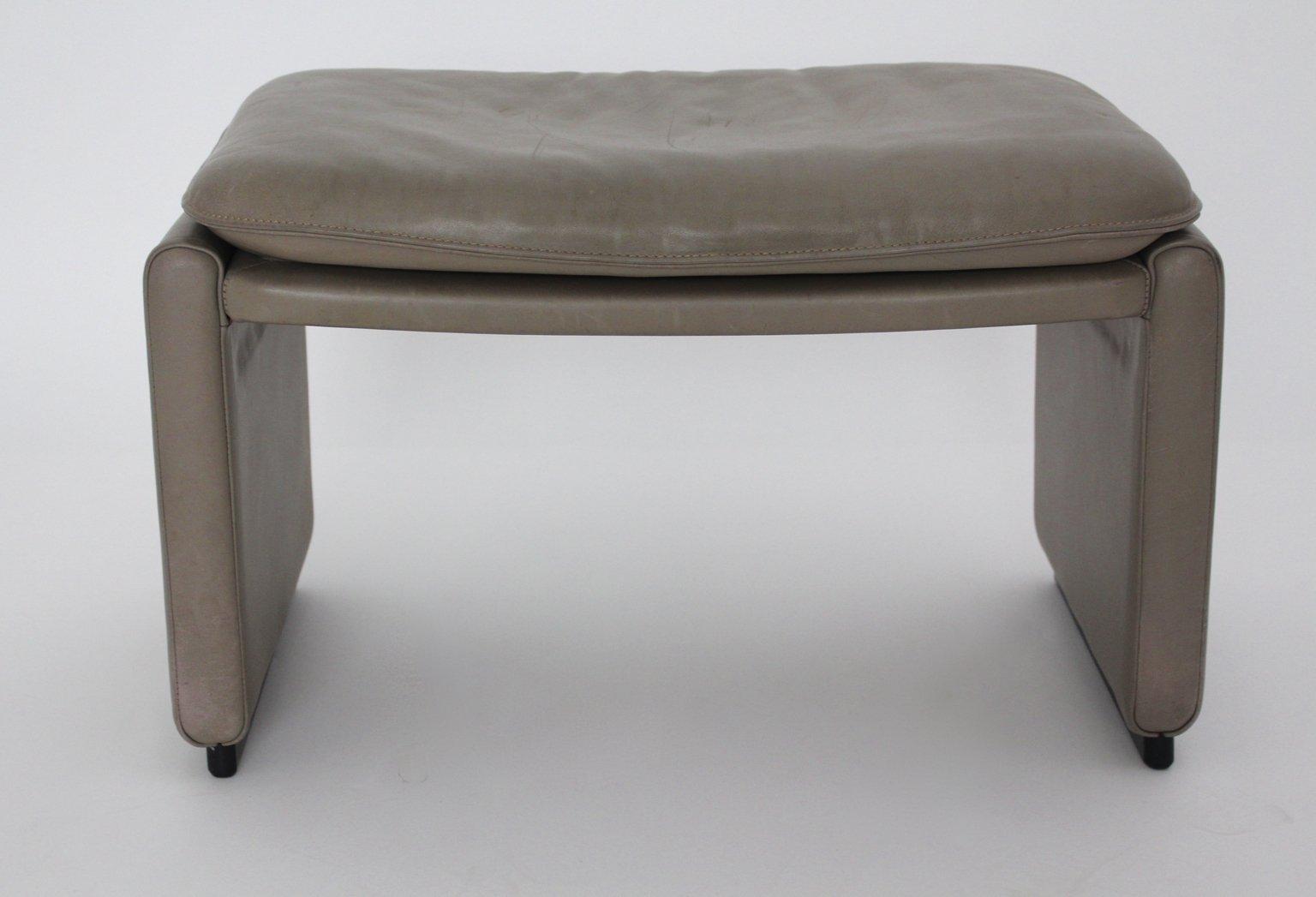 leder fu hocker von de sede 1980er bei pamono kaufen. Black Bedroom Furniture Sets. Home Design Ideas