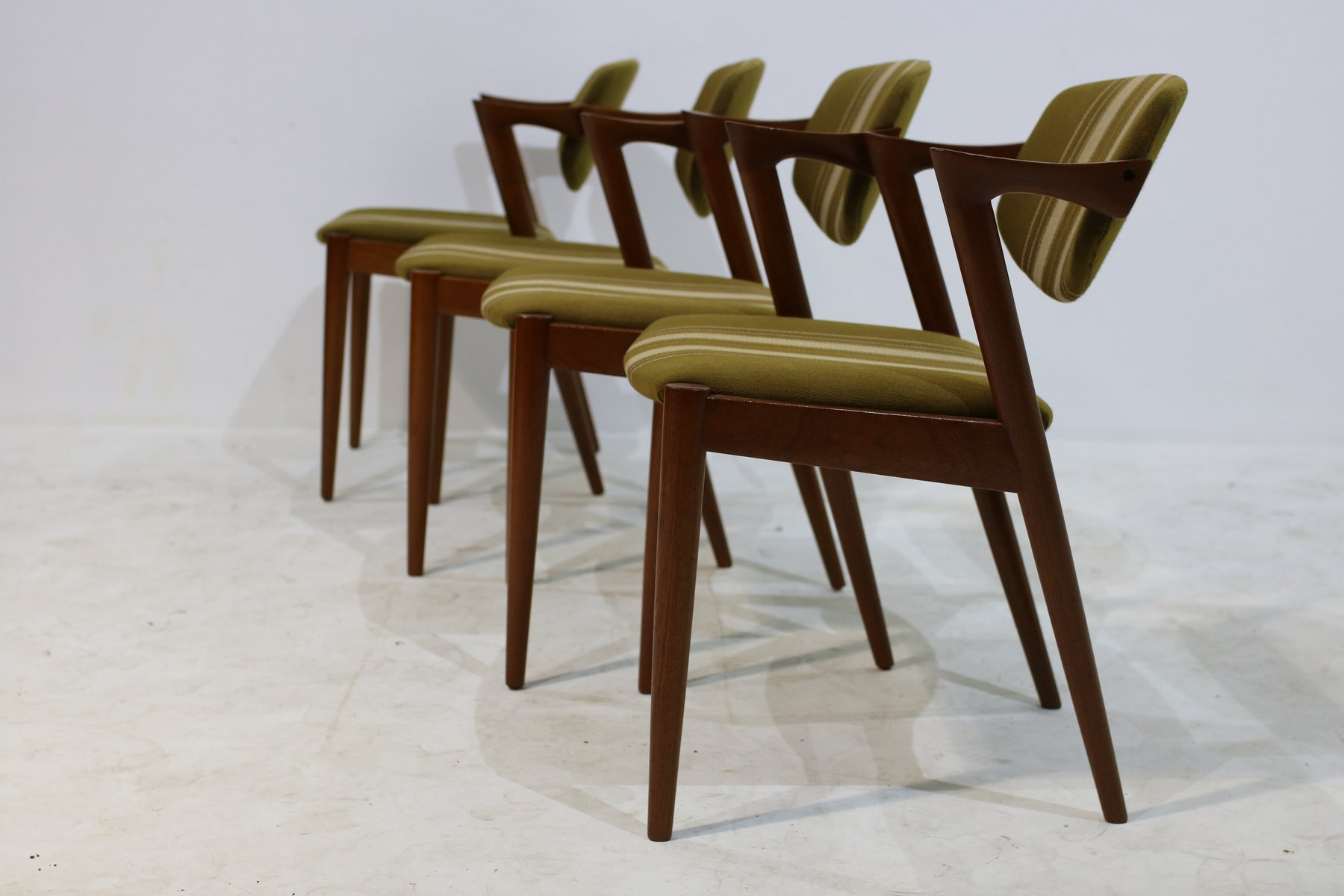 Vintage Model 42 Chairs by Kai Kristiansen Set of 4 for sale at