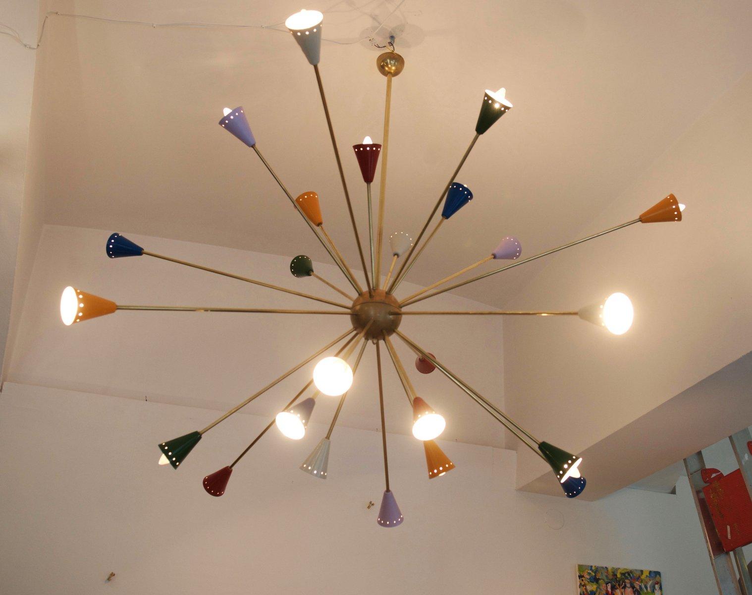 Mid Century Italian Sputnik Chandelier 1950s For Sale At