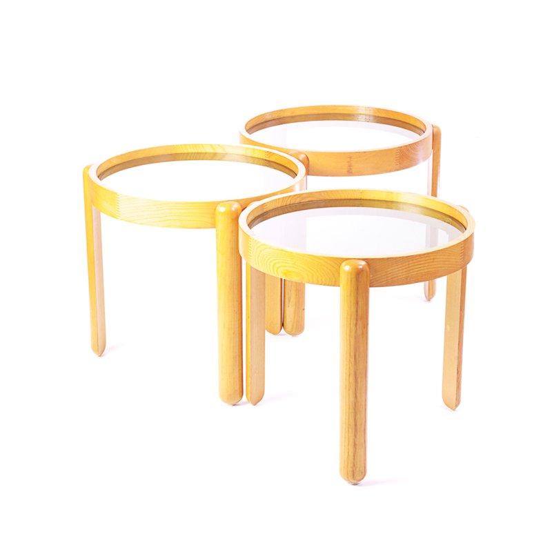 Oak nesting tables from porada arredi for sale at pamono for Porada arredi