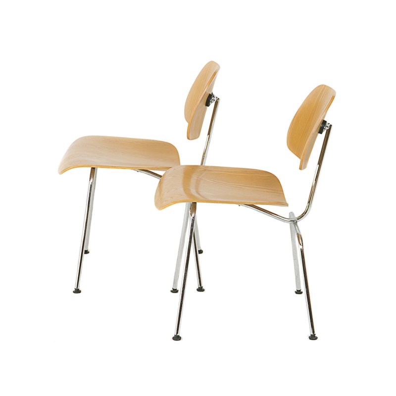 Dcm chairs by charles and ray eames for vitra set of 2 - Charles eames sedia ...
